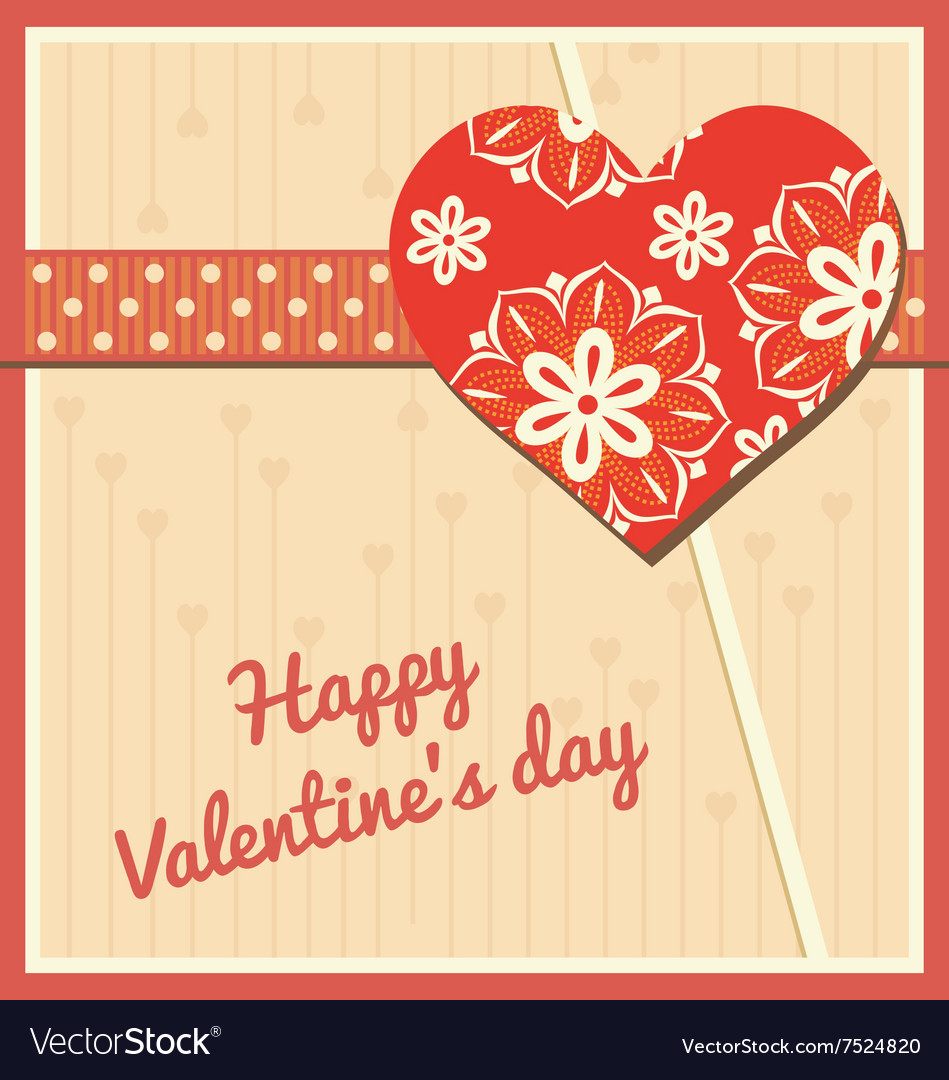Valentines day card love symbol