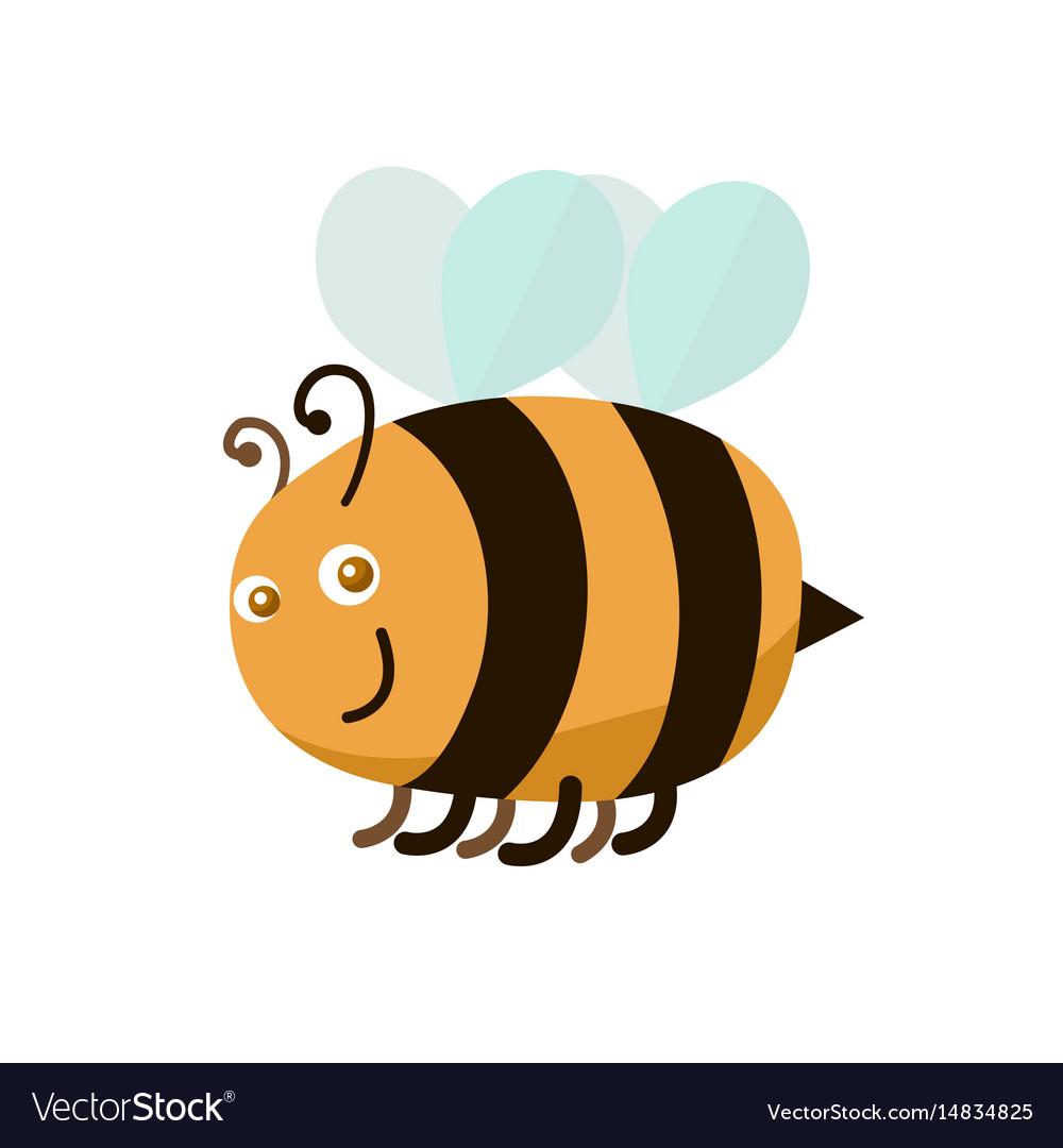Cartoon color bee