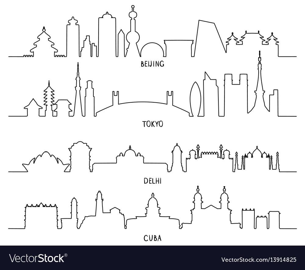 City landmarks beijing tokyo new delhi cuba