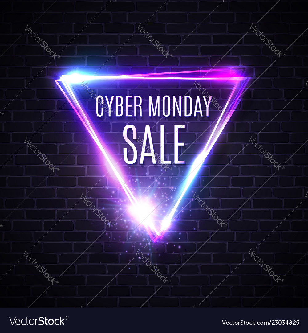 Cyber monday triangle design for banner sign label
