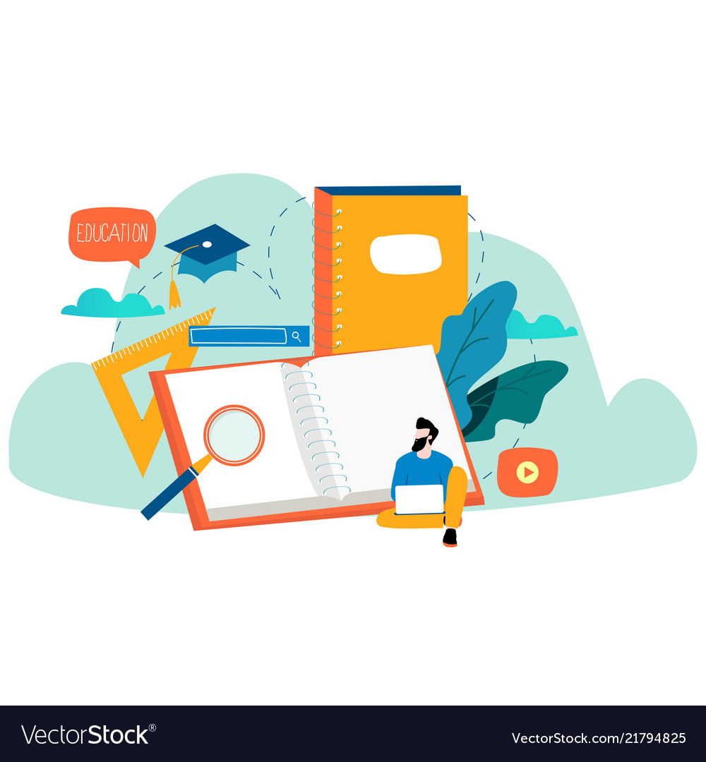 Education Online Training Courses Royalty Free Vector Image