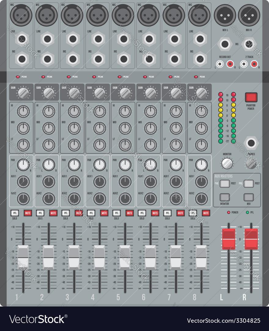 Eight channels professional studio sound mixer