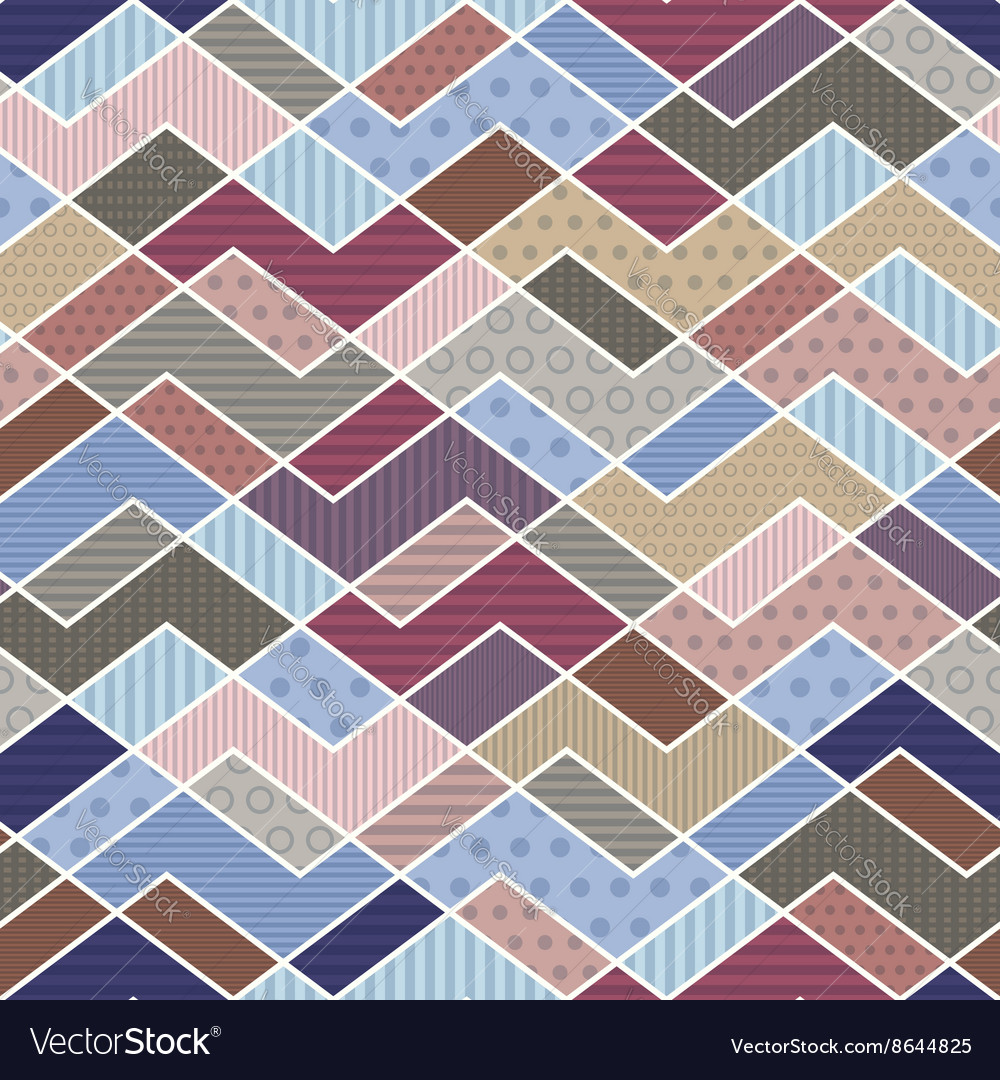 Geometric patchwork pattern in trend colors