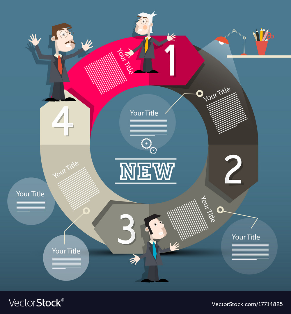 Infographic layout infographics with big circle