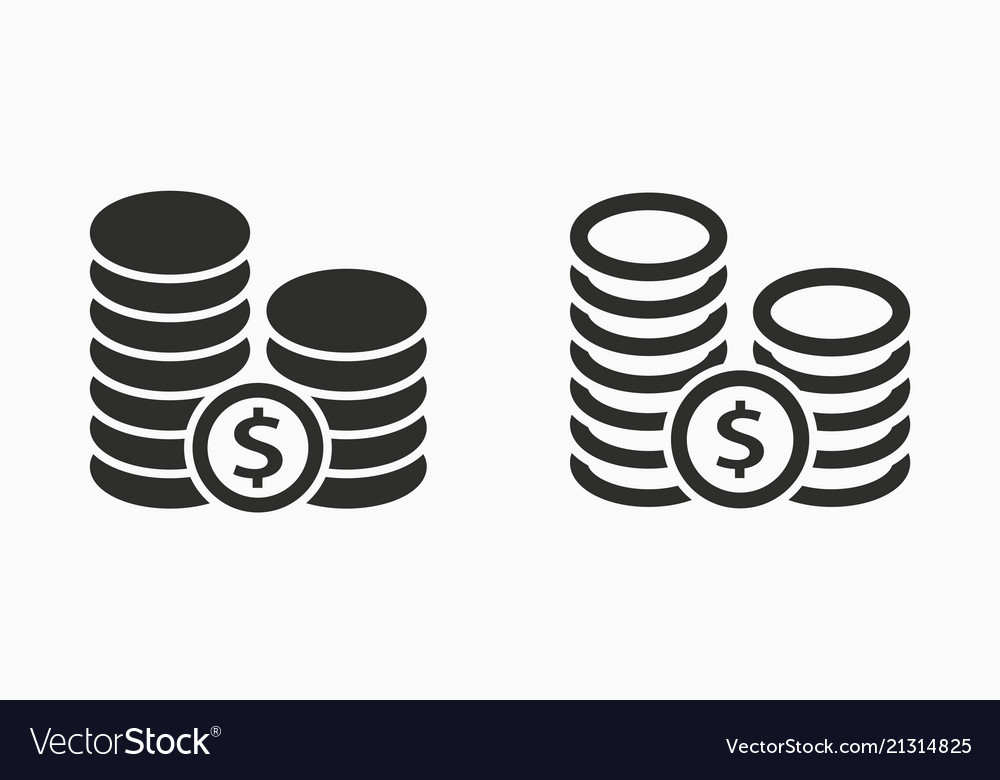 Investments money icon simple pictogram