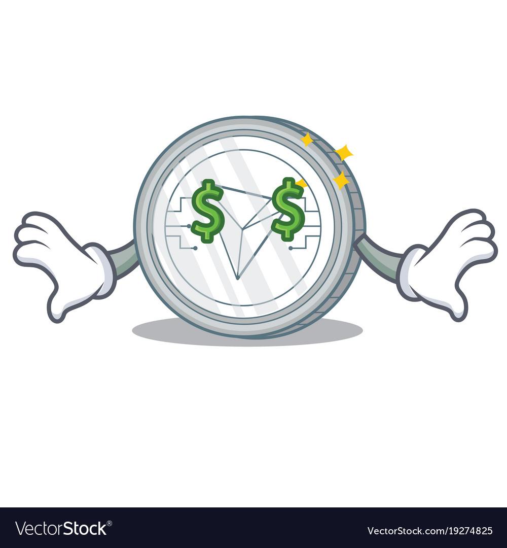 Money eye tron coin character cartoon