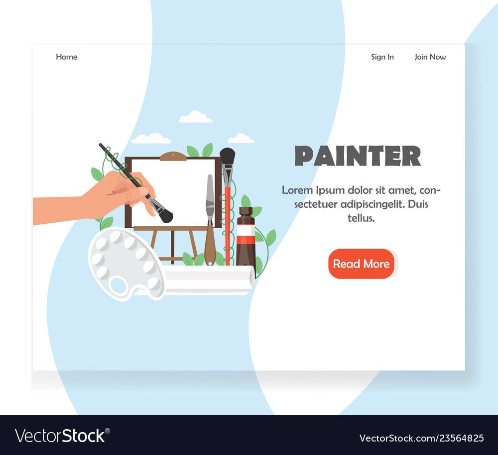Painter website landing page design