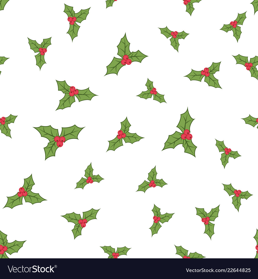 Seamless holly berries