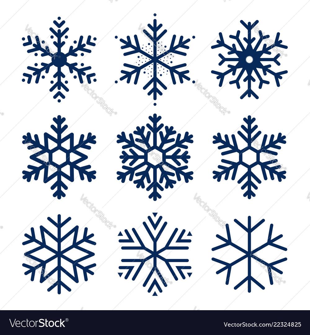 Snowflakes icons set of snowflakes texture