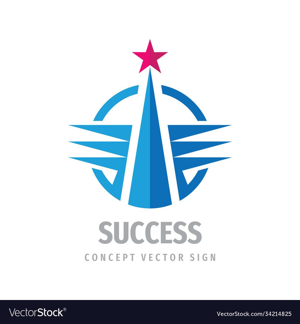 Success business logo template design progress