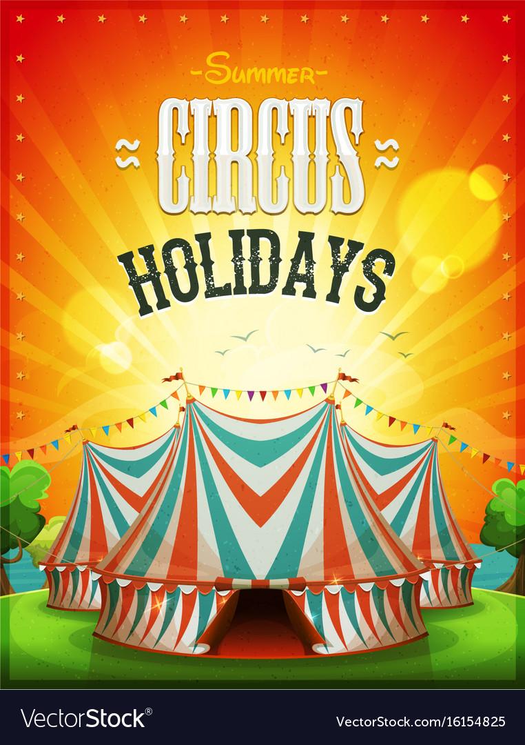 Summer circus holidays poster