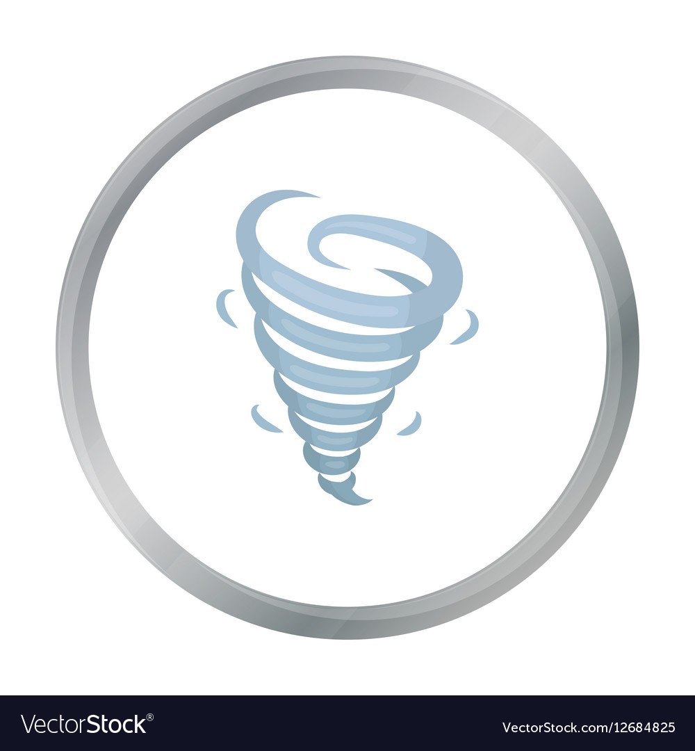 Tornado icon in cartoon style isolated on white