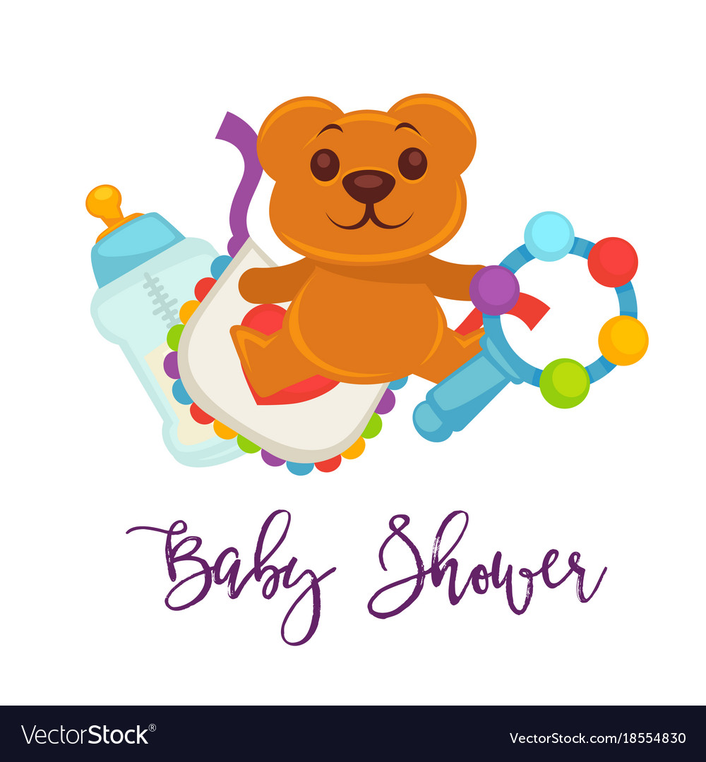 Baby shower greeting card for boy girl birth vector image m4hsunfo