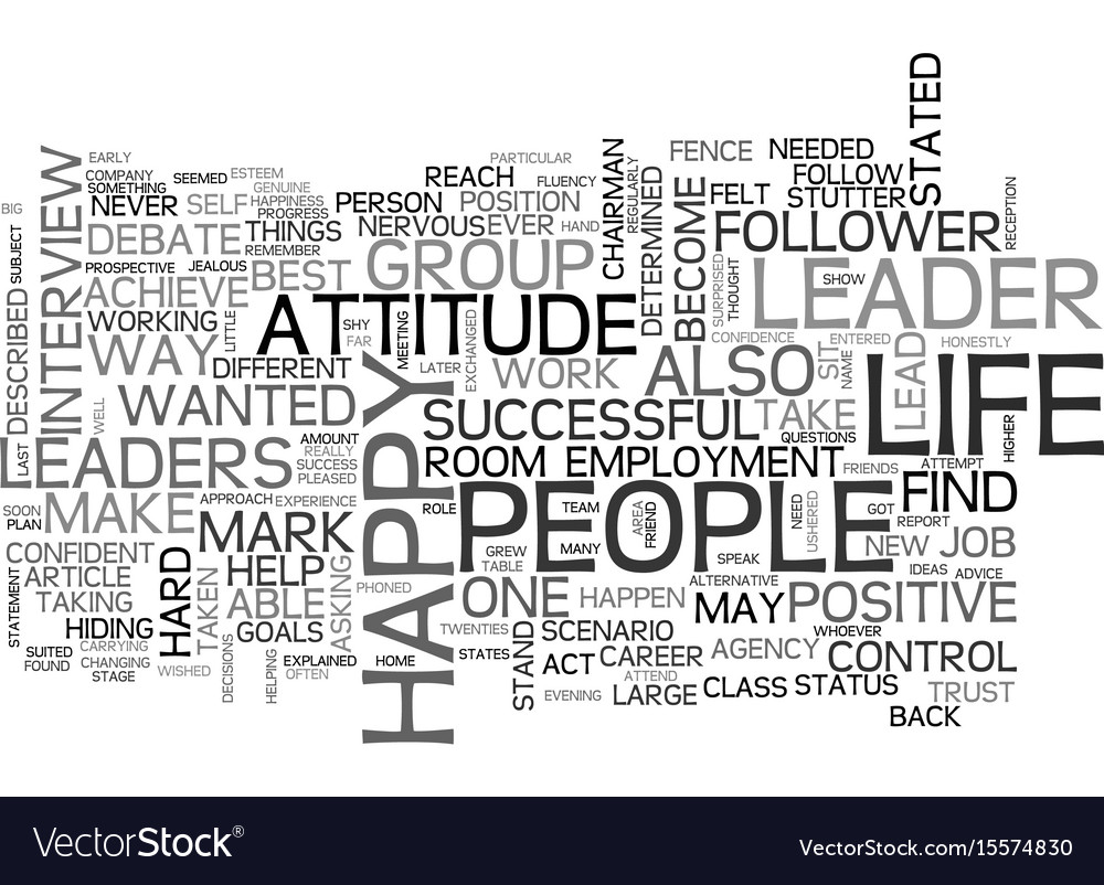 Be A Leader Not A Follower Text Word Cloud Concept