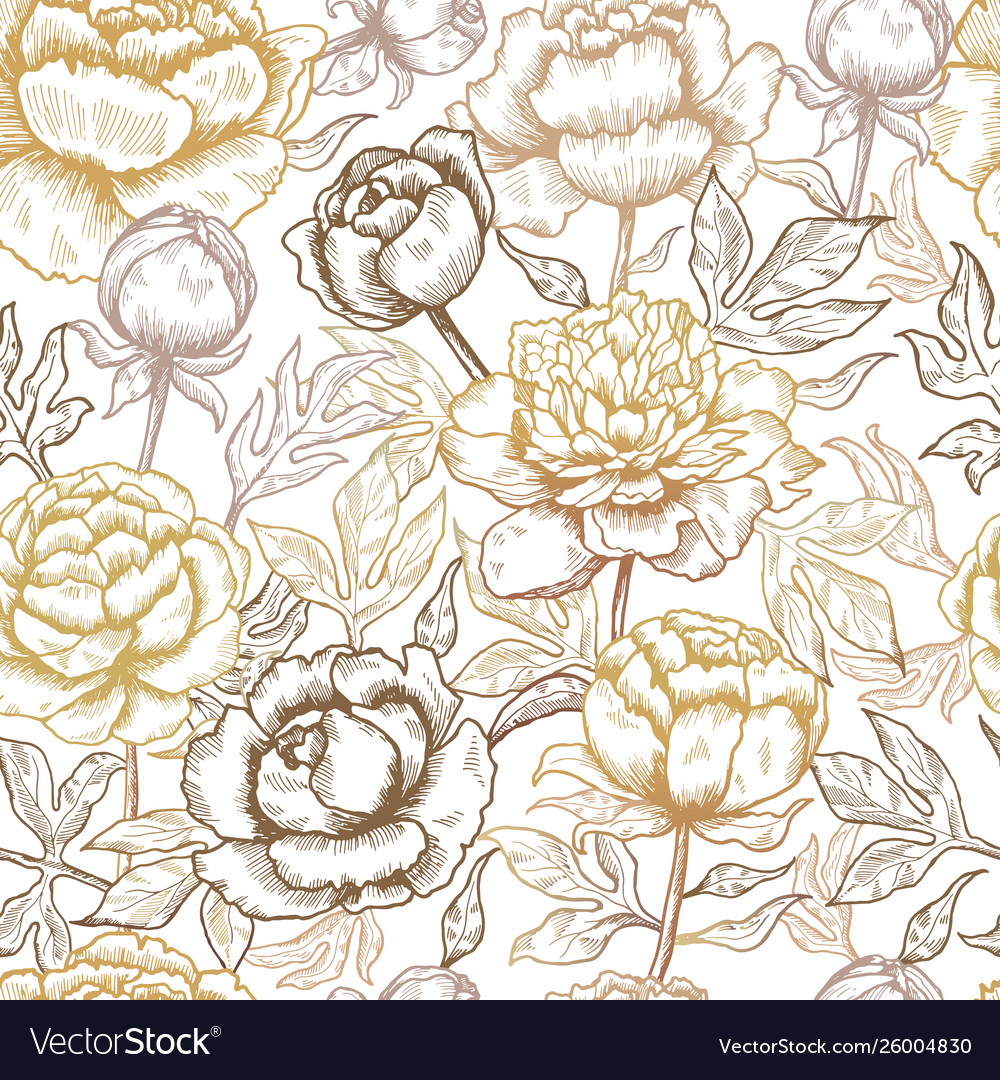 Floral pattern peonies textile design pictures of