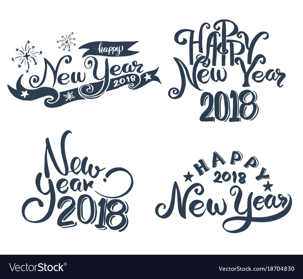 Happy New Year Lettering 35