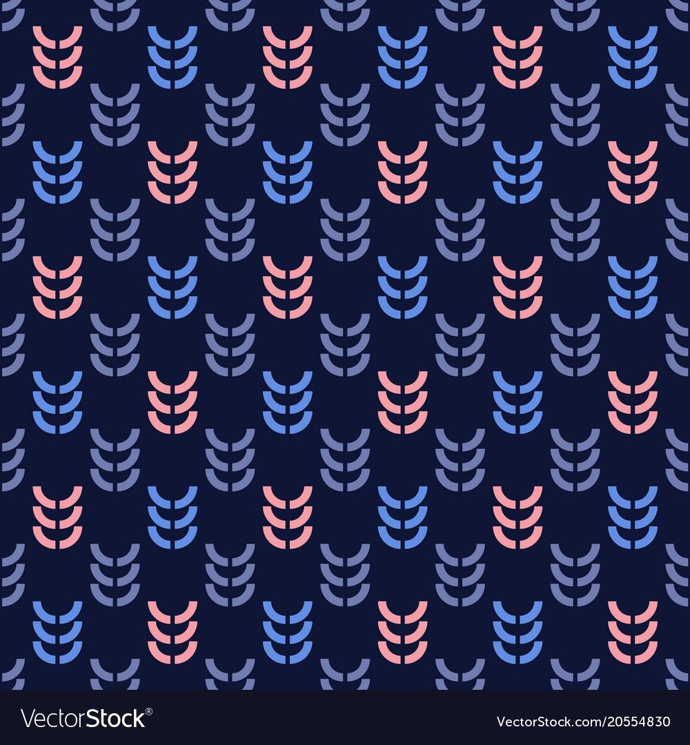 Rye graphic seamless pattern