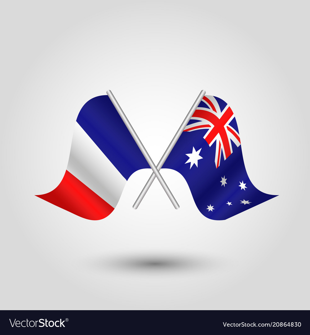 Image result for crossed australian and french flags