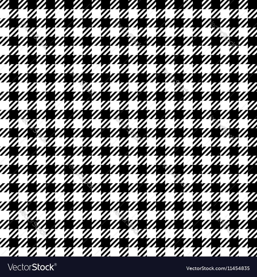 Black White Check Plaid Seamless Fabric Texture Vector Image