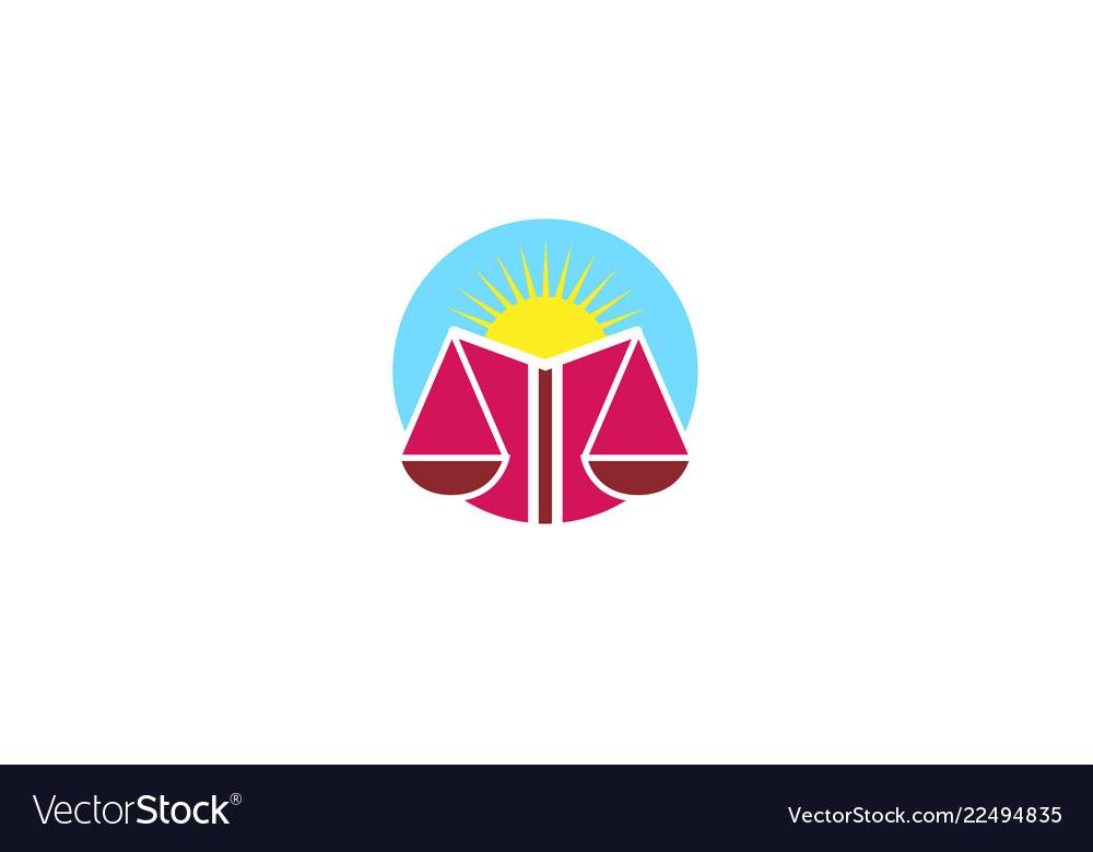 Creative human body law balance star logo