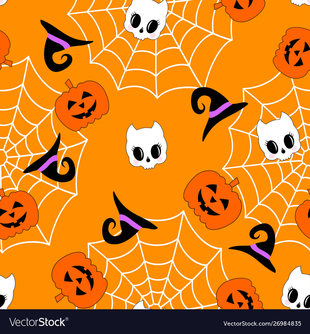 Cute halloween pumpkin pattern
