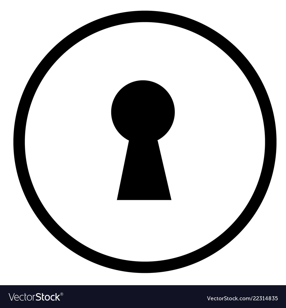 Keyhole icon on white background flat style sign