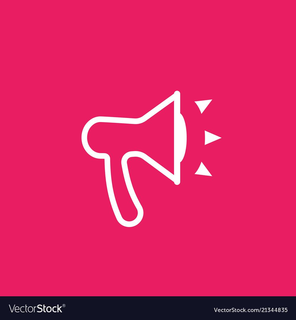 Loudspeaker icon pictogram
