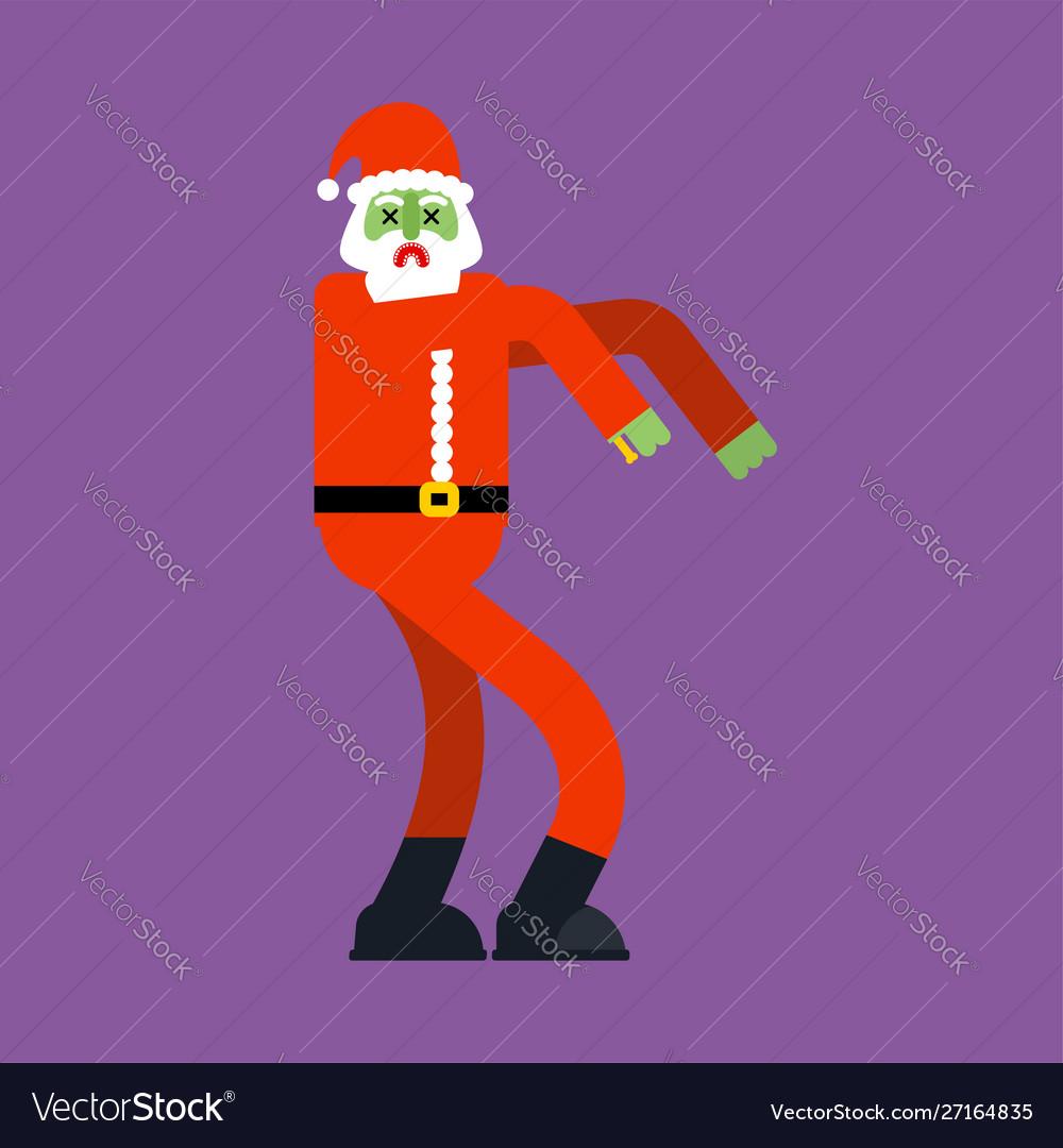 Christmas Zombie Santa.Santa Claus Zombie Christmas Grandfather Horror