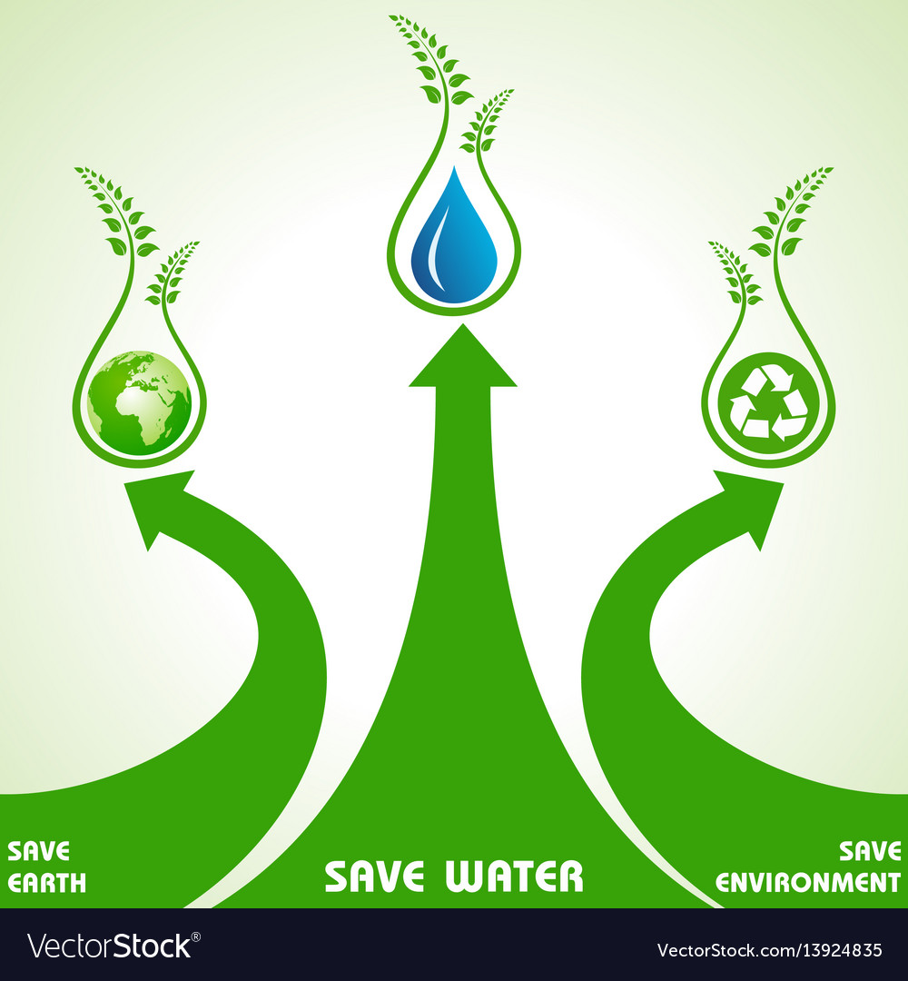 Save earthwater and environment concept
