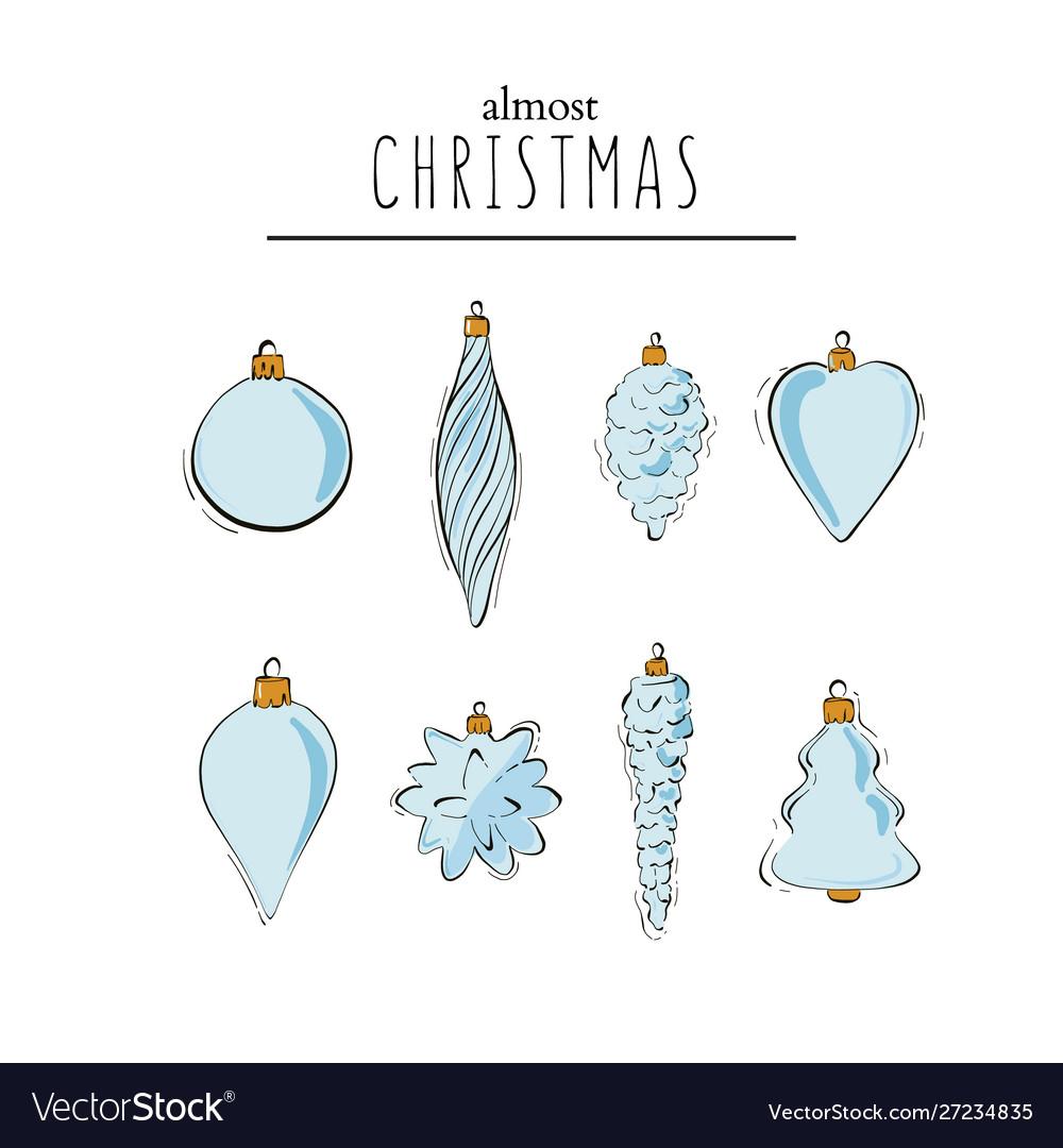 Ternder hand-drawn winter holidays tree