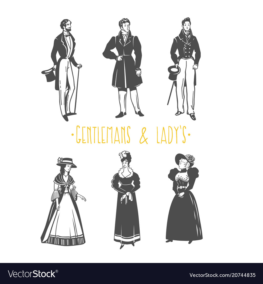 Vintage lady and gentleman style