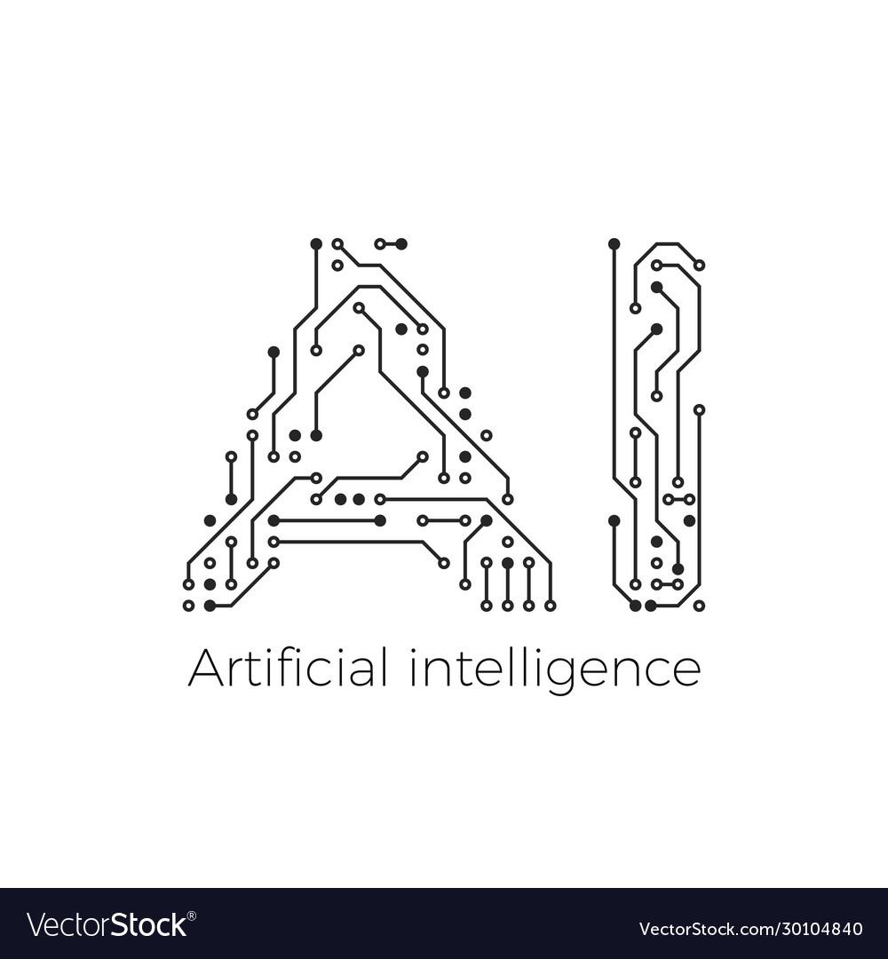 Artificial intelligence concept circuit board ai