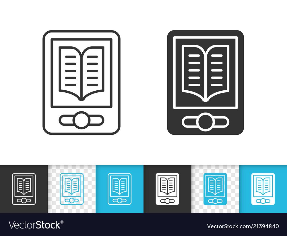 Ebook simple black line icon