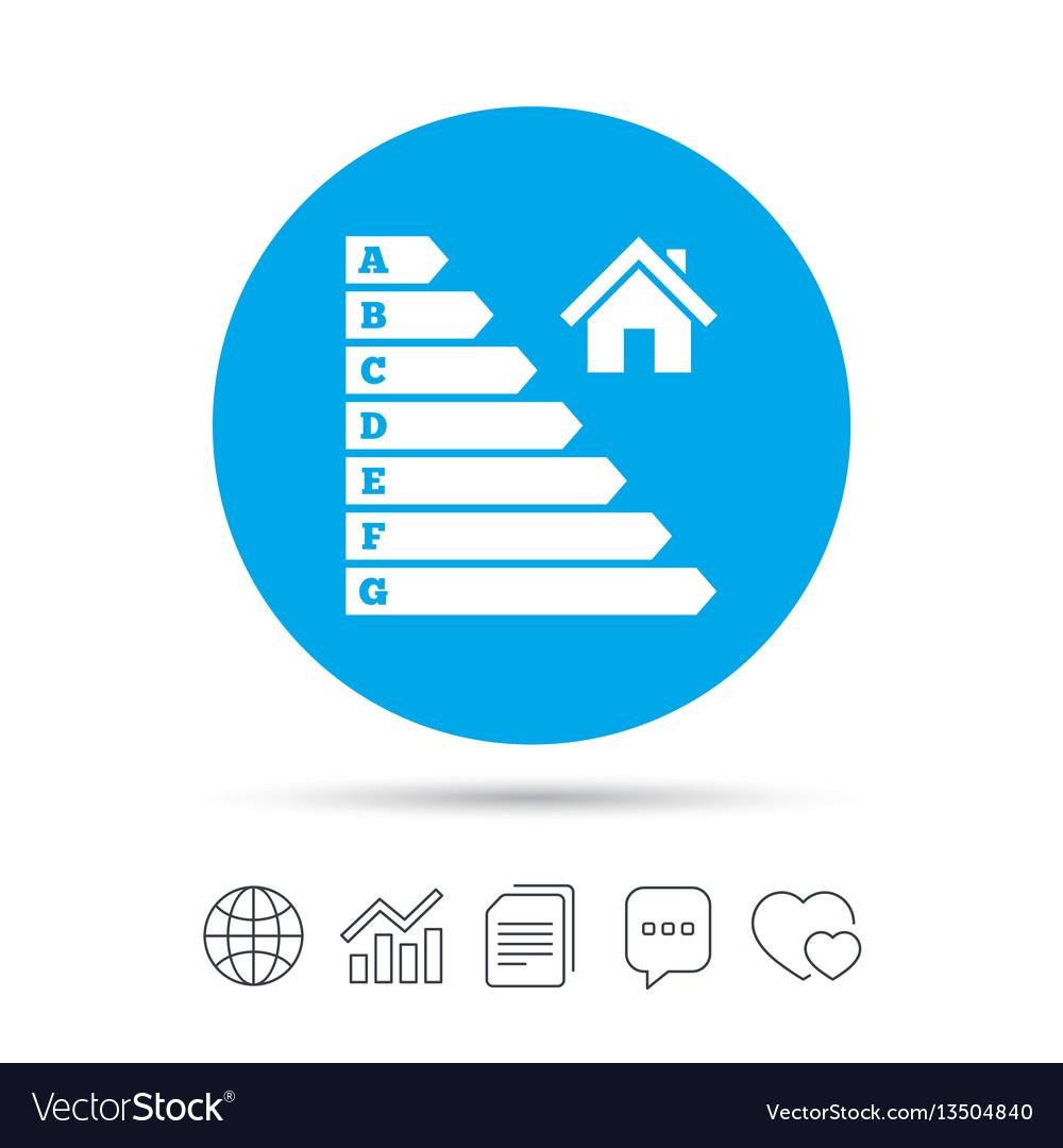 Energy efficiency icon electricity consumption