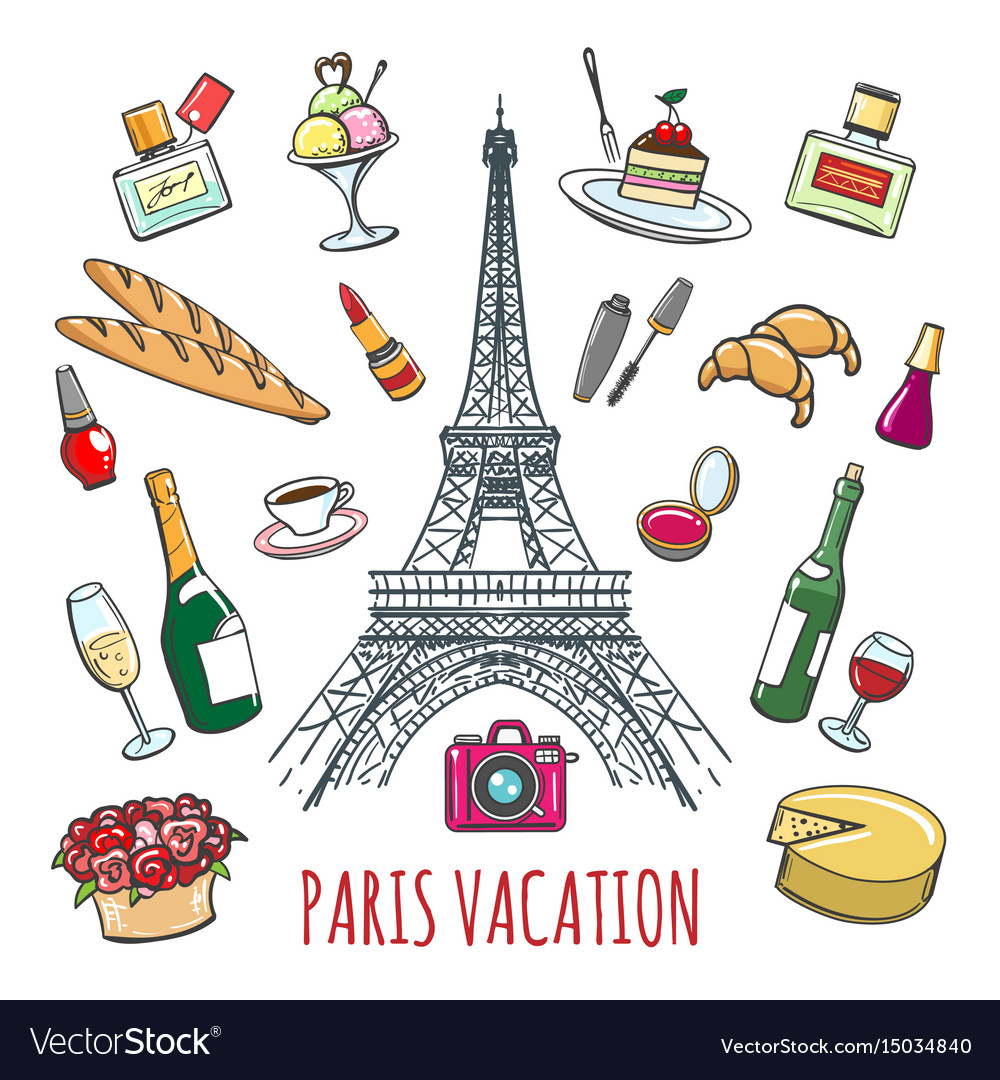 french country vacation doodle elements royalty free vector