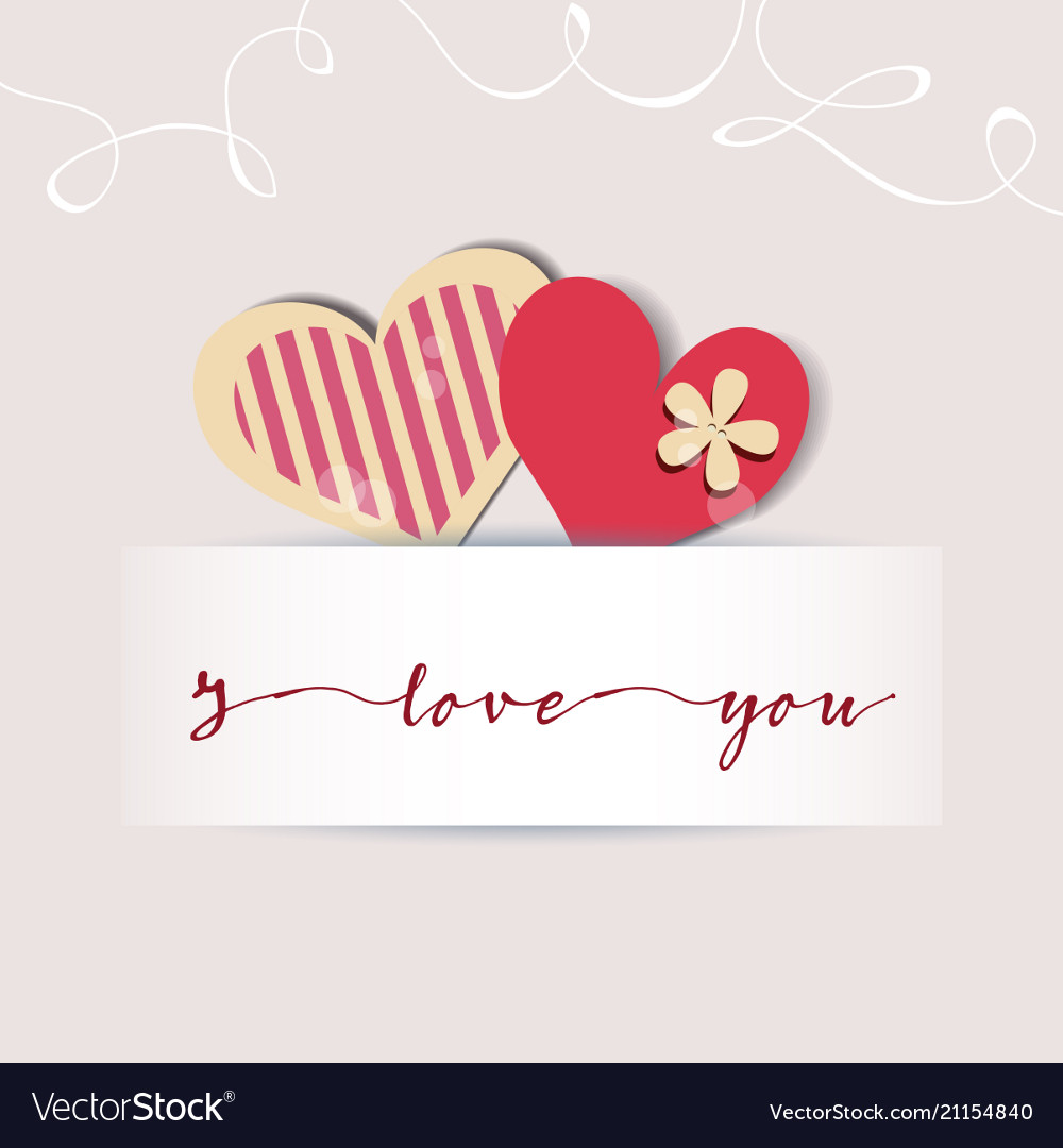 Love card cute hearts and a text message design