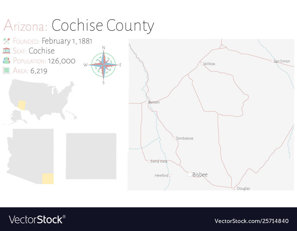 Map cochise county in arizona