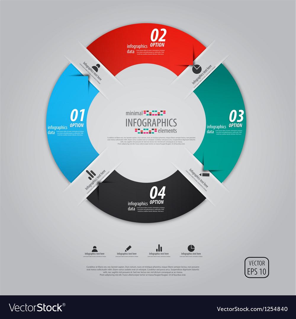 Minimal infographics option pie vector image