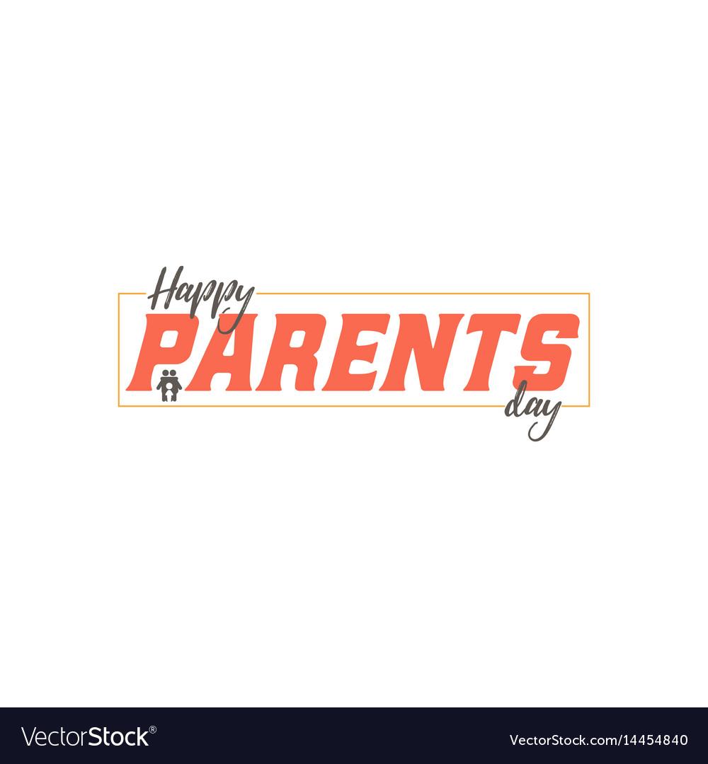 Parents day badge design sticker stamp logo