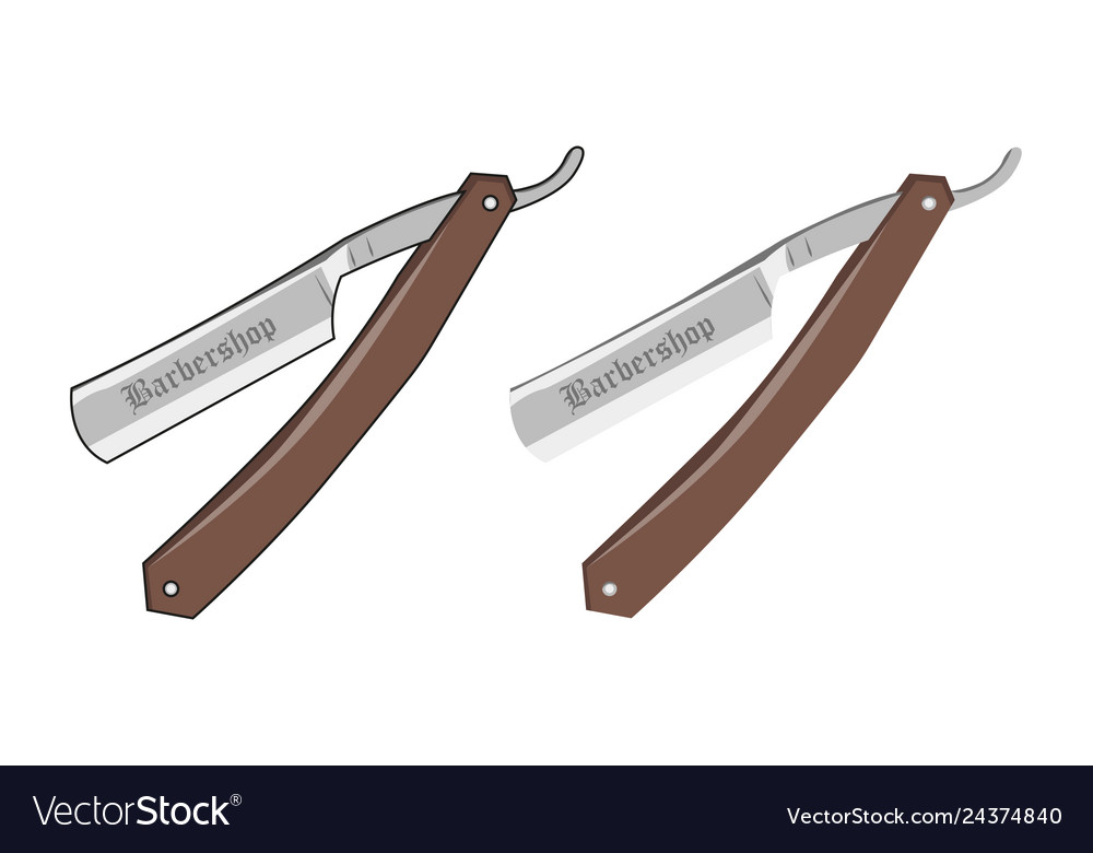 Razor on a white background in flat style