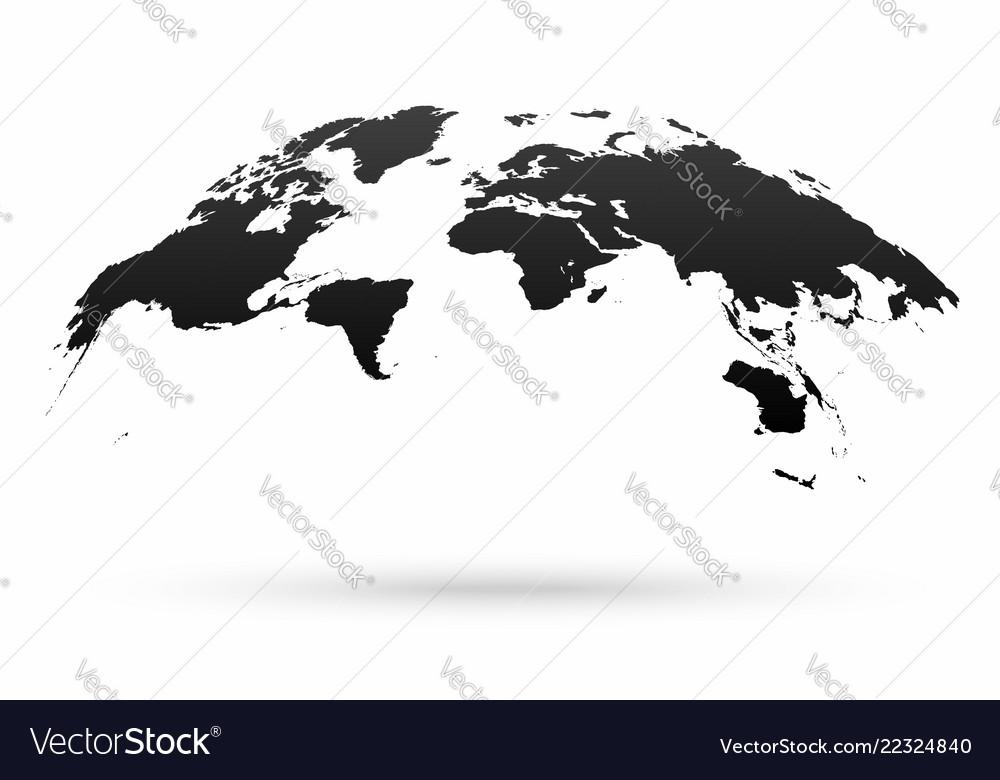 World map globe isolated on white background