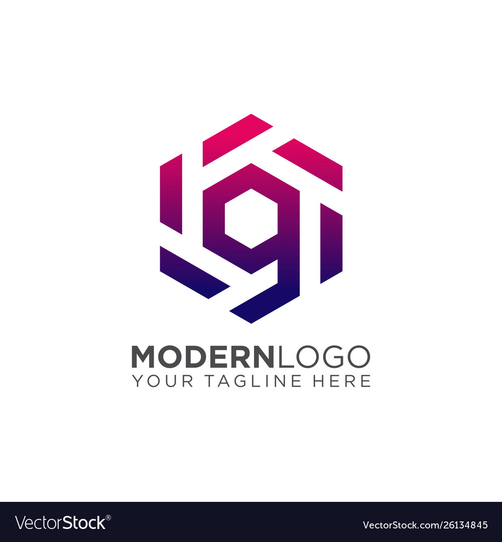 Abstract letter g logo design