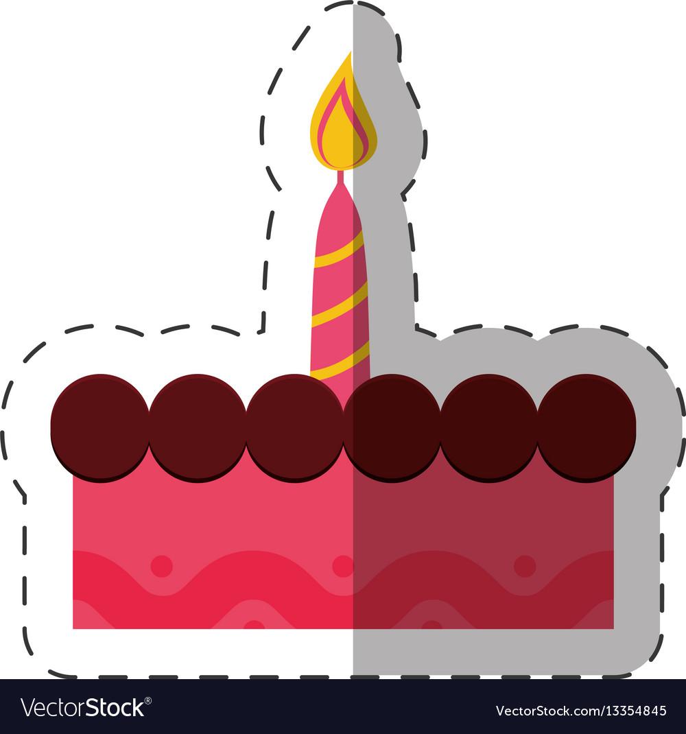 Birthday cake sweet candle celebration