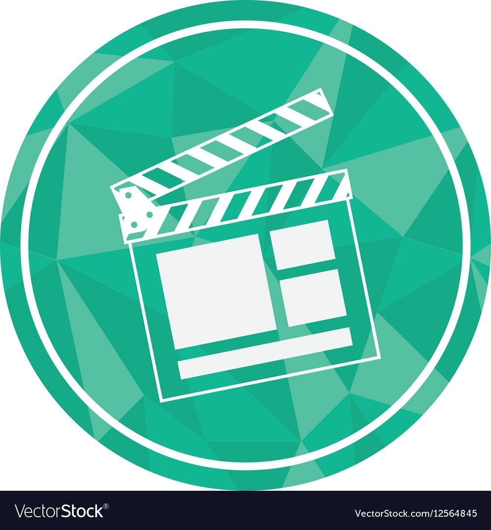cinema clapboard icon royalty free vector image
