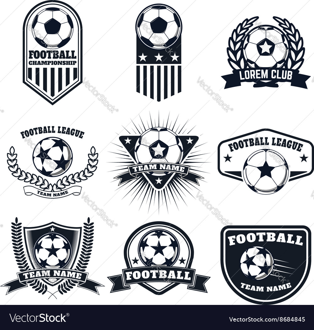 Set of the football labels emblems and design