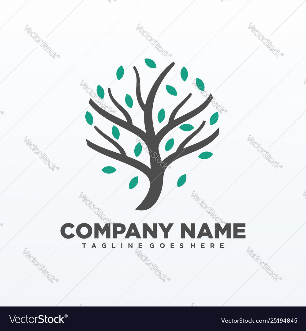Tree isolated elements template