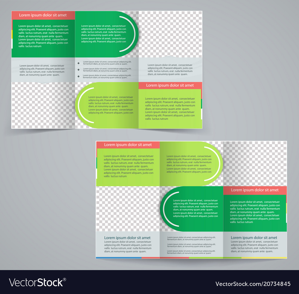 Tri Fold Business Brochure Template Royalty Free Vector