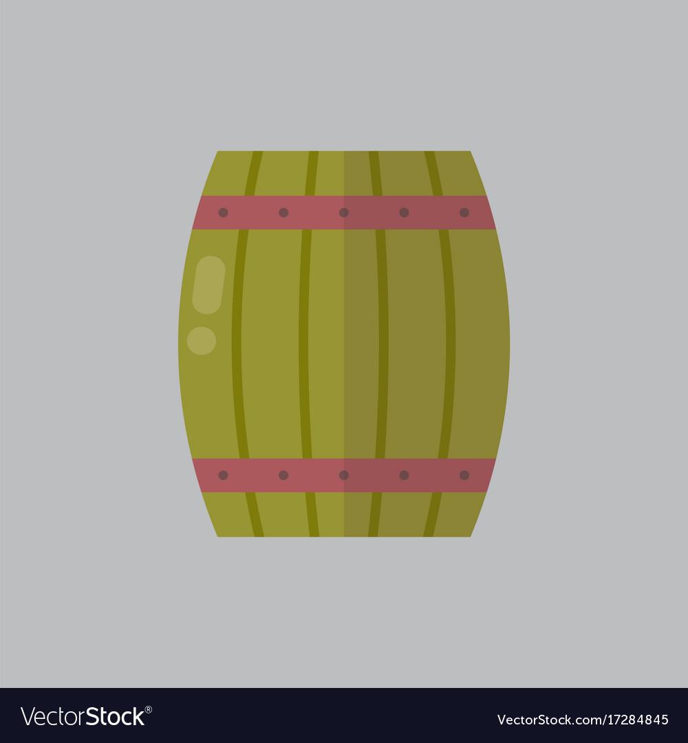 Wooden beer barrel icon oktoberfest festival