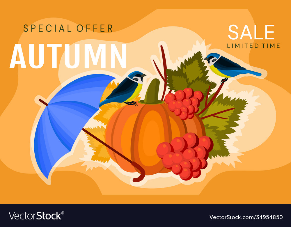 Autumn sale banner or poster