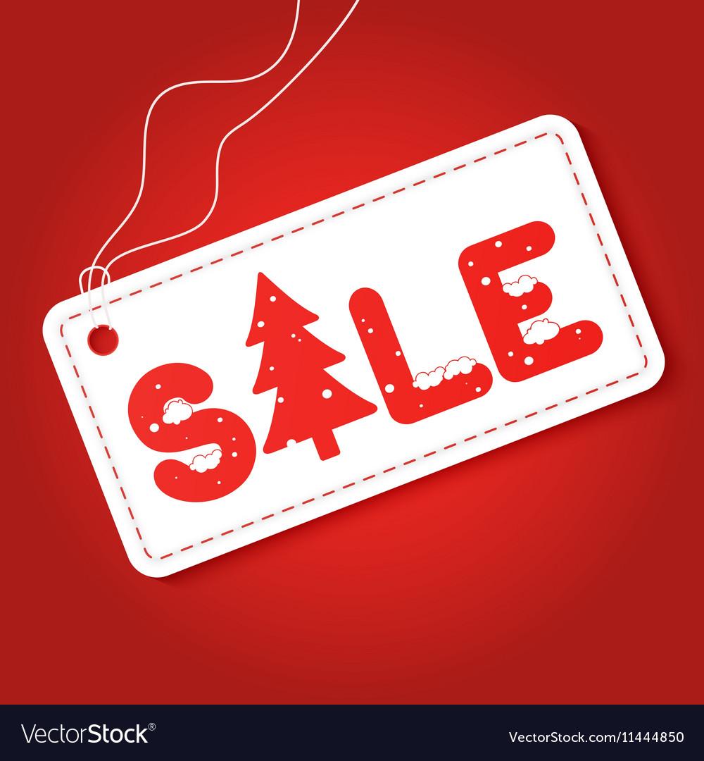 Big winter sale poster Discount tag sticker Mega